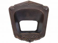 Philco Model 90 (Early) Escutcheon (metalic): click to enlarge