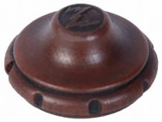 Repro of Zenith Wood Knob (plastic): click to enlarge